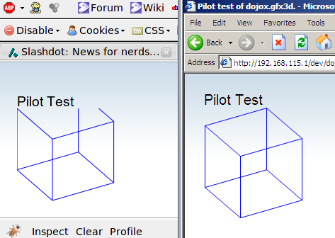 Cube in Firefox and MSIE