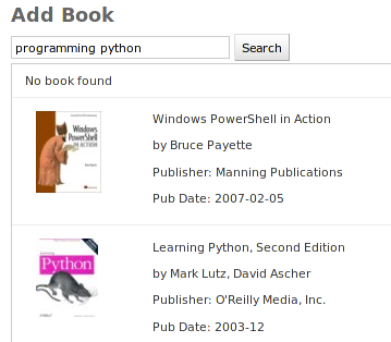 Add book by search